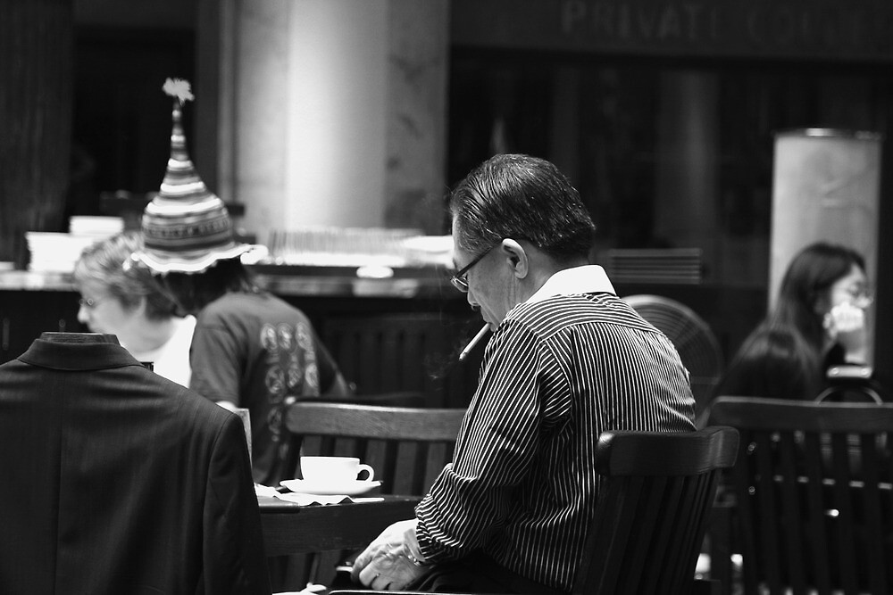 Coffee, Cigarettes & The Newspaper by Andrew Kalpage