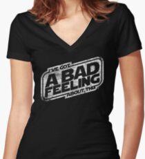 That Same Old Feeling (White) Women's Fitted V-Neck T-Shirt