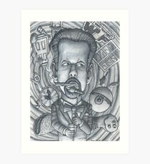 "Little Rock Comedian, Micheal ""Doc"" Davis Art Print"