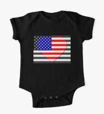 United States Flag T-shirt One Piece - Short Sleeve