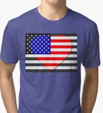 United States Flag T-shirt Tri-blend T-Shirt