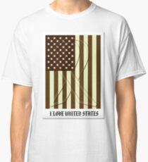 United States Flag Vintage T-shirt Classic T-Shirt