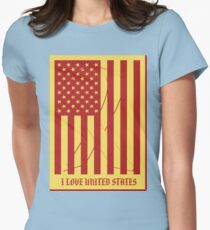 United States Flag Vintage T-shirt Womens Fitted T-Shirt