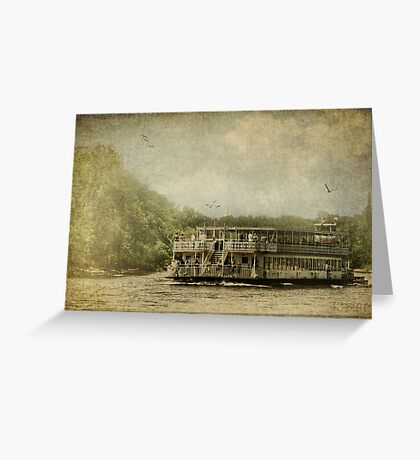 Riding the Great River Greeting Card