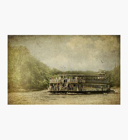Riding the Great River Photographic Print