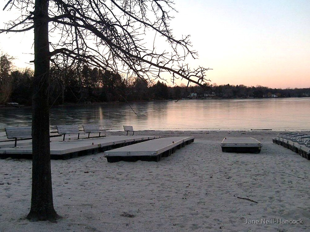 Quot A Pink Winter Sunset Over Frozen Pines Lake Wayne Nj Quot By