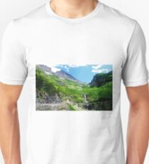 Scenes along Going to the Sun Road, Glacier National Park  Unisex T-Shirt