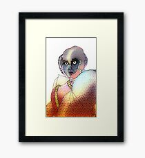 Robot Warrior Guardian Framed Print