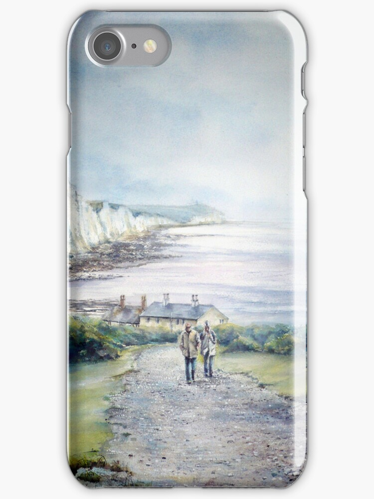 Cuckmere Haven, A study in greys. iphone cover by LorusMaver