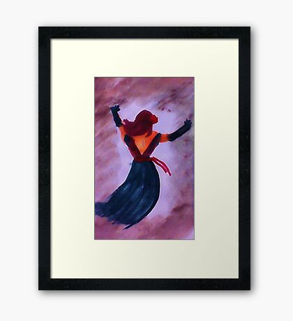 Dancing the night away, watercolor Framed Print