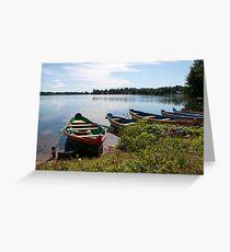 Boats on a lake Greeting Card