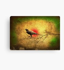 Raven Heart Canvas Print