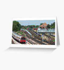 London Underground Trains Greeting Card