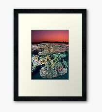 Sunset at the Red Sea Reef Framed Print