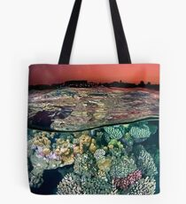 Sunset at the Red Sea Reef Tote Bag