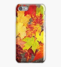 Layered In Leaves iPhone Case/Skin