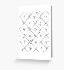 Gem and Mushroom Geometry Greeting Card
