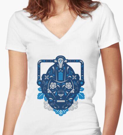 Sugar Cybermen Women's Fitted V-Neck T-Shirt