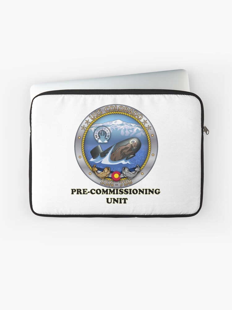 SSN-788 USS Colorado Pre-commissioning Unit Crest | Laptop Sleeve