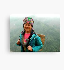 Local Vietnamese girl, Sapa region Canvas Print