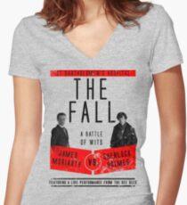 James Moriarty vs. Sherlock Holmes Women's Fitted V-Neck T-Shirt