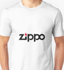 ZIPPO Logo- Black Unisex T-Shirt