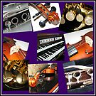 Wind and Strings Music Collage von BlueMoonRose