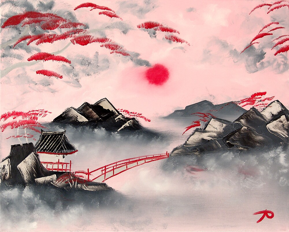 Pink and Red Mountains by Amara Paul
