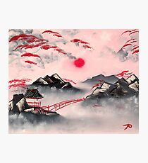 Pink and Red Mountains Photographic Print
