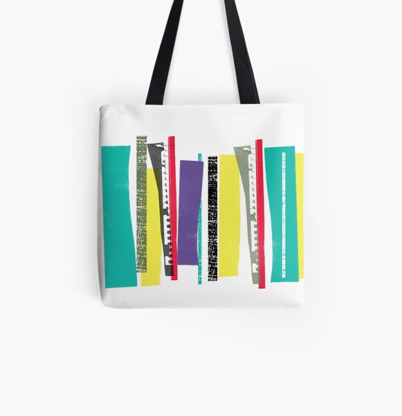 Strips of Colour All Over Print Tote Bag