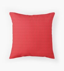 LEGO red Throw Pillow