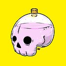 Bottle skull by crabro