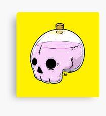 Bottle skull Canvas Print