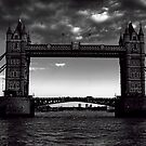 Tower Bridge B&W by Dean Messenger