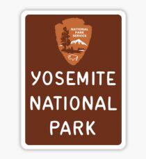 Yosemite National Park Entrance Sign, California, USA Sticker