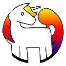 Rainbow Unicorn in the Round by Jenn Reese