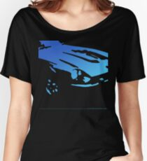Datsun 240Z Detail - Blue on black Women's Relaxed Fit T-Shirt