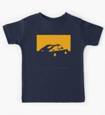 Saab 900, 1990 - Yellow on charcoal Kinder T-Shirt