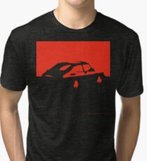 Saab 900, 1990 - Red on charcoal Tri-blend T-Shirt