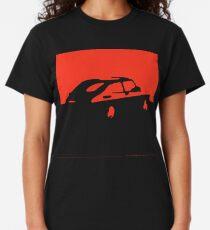 Camiseta clásica Saab 900, 1990 - Rojo sobre carbón
