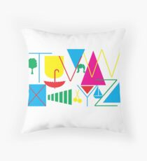 From T to Z Throw Pillow