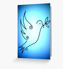 Blue Peace Dove Greeting Card