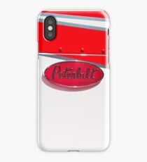 RED AND WHITE PETERBILT iPhone Case/Skin