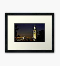 UC Berkeley Clock Tower @ Nite Framed Print