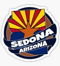 Sedona Arizona flag burst Sticker