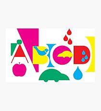 Graphic ABC Photographic Print