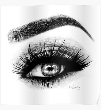 eye makeup drawing posters redbubble