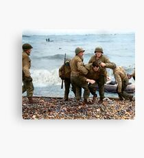 Omaha Beach landing - D Day Canvas Print