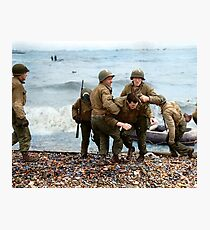 Omaha Beach landing - D Day Photographic Print