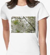 Springtime Dreams - Masses of White Blossoms Women's Fitted T-Shirt